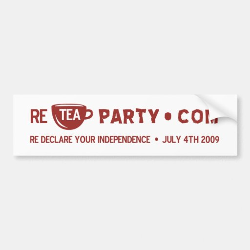 Re Tea Party Car Bumper Sticker