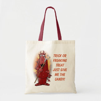 Re-usable Devil Trick or Treat bag! Tote Bag