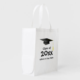 Re-usable stock market - Graduation Reusable Grocery Bag