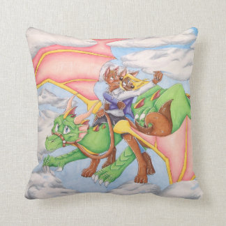 Reach for the Clouds Dragon Pillow