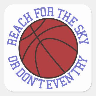 Reach for the Sky Square Sticker