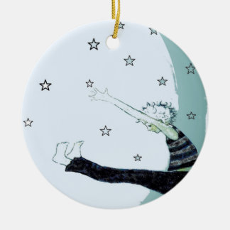 Reach for the Stars and the Moon Inspirational Christmas Ornament