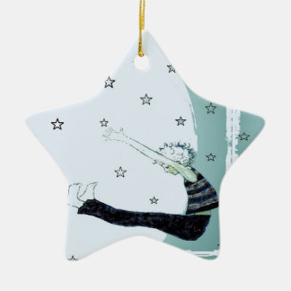 Reach for the Stars and the Moon Star Christmas Ornament