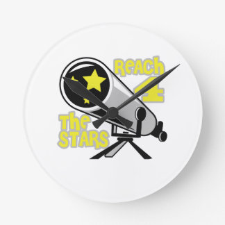 REACH FOR THE STARS ROUND CLOCK