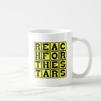 Reach For The Stars, Motivational Phrase Basic White Mug