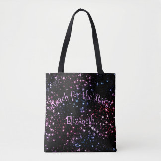Reach for the Stars Name Tote Bag