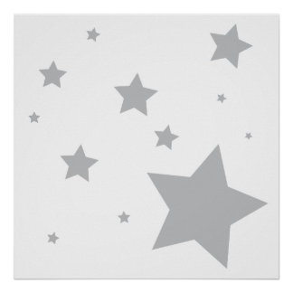Reach for the Stars Nursery Art Decor Poster