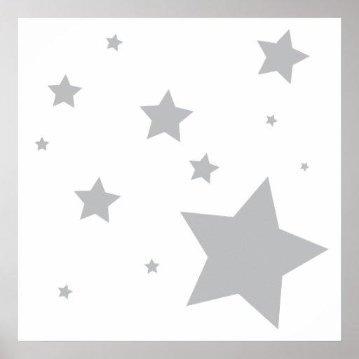 Reach for the Stars Nursery Art Decor Poster