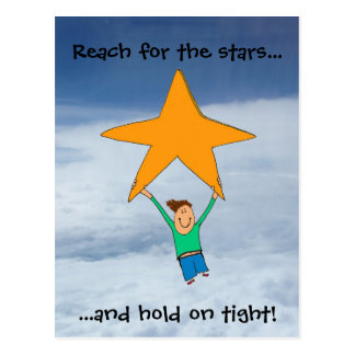 Reach for the stars... postcard