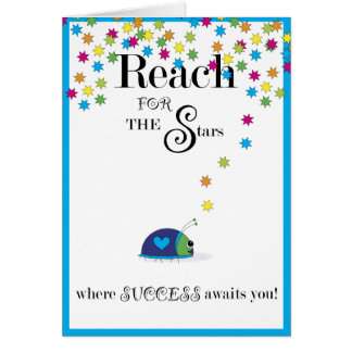 Reach for the Stars Success Greeting Card