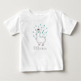"""Reach For The Stars"" Sweet Llama Illustration Baby T-Shirt"
