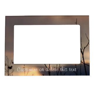 Reach for the Sunset; Customizable Magnetic Photo Frame