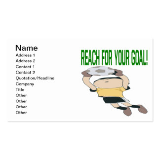 Reach For Your Goal Pack Of Standard Business Cards