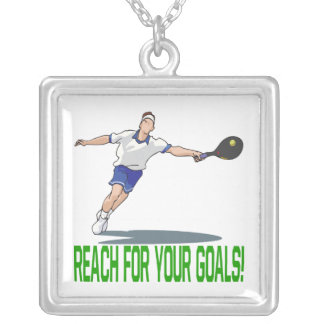 Reach For Your Goals Square Pendant Necklace