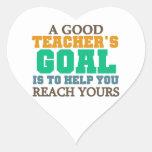 Reach Your Goals Heart Stickers