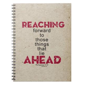 Reaching Ahead Spiral Notebook
