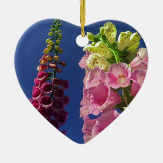 Reaching for the sky ceramic heart decoration
