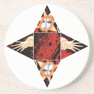 reaching out beverage coasters