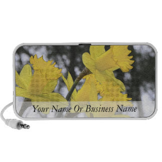 Reaching Upwards - Yellow Daffodils Portable Speaker