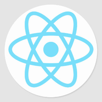React js Stickers, Mugs,  T-shirts and much more Classic Round Sticker