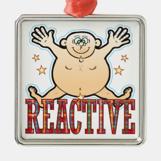 Reactive Fat Man Christmas Ornament