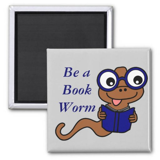 Read a Book Month: Be a Book Worm Fridge Magnet