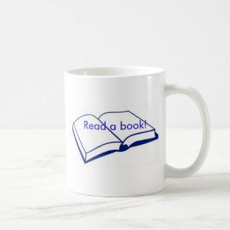 Read a book basic white mug