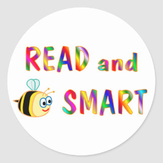 Read and Be Smart Round Sticker