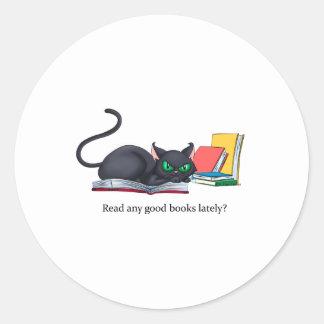 Read any good books lately? round sticker