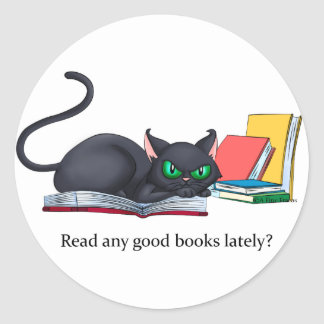 Read any good books lately? round sticker