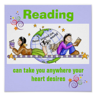 Read Around the World Literacy Poster