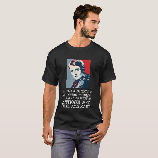 read ayn rand libertarian T-Shirt