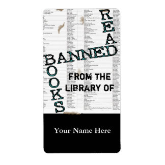 Read Banned Books Bookplate .. Shipping Label