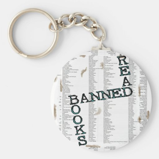 READ BANNED BOOKS KEYCHAINS