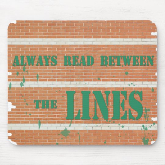 Read Between the Lines Mouse Mat