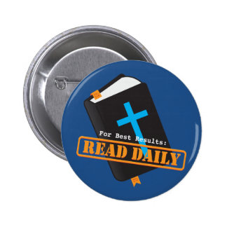 Read Bible Daily Christian 6 Cm Round Badge