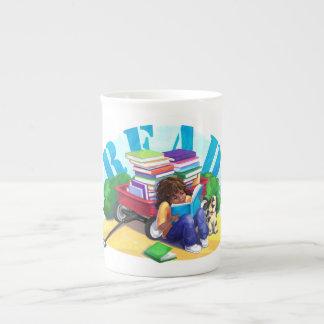 READ Book Wagon Art Bone China Mug