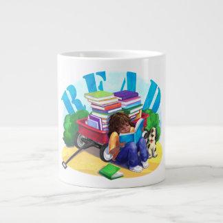 READ Book Wagon Art Jumbo Mug