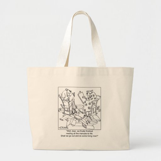 Read Every How To Live Manual Canvas Bag