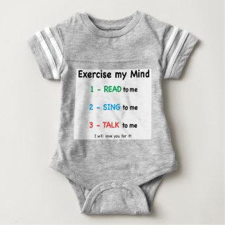 READ - Exercise My Mind Baby Bodysuit