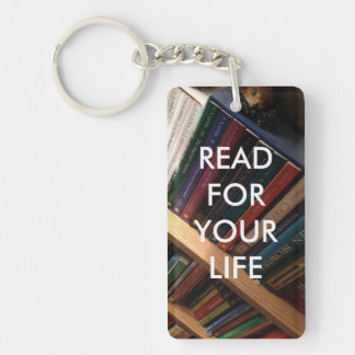 """""""Read for your life"""" Keychain"""
