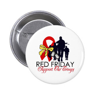 Read Friday - Support Our Troops Button
