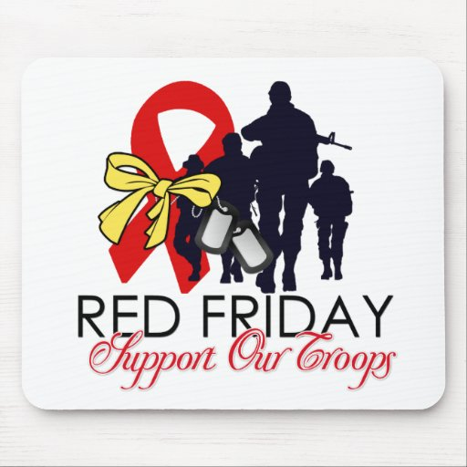 Read Friday - Support Our Troops Mouse Pads