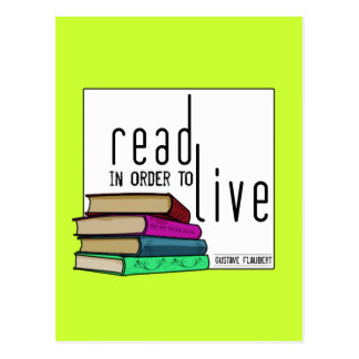 Read In Order To Live for book lovers Postcard