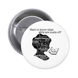 Read Jane Austen 6 Cm Round Badge