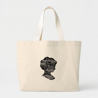 Read Jane Austen Cameo Large Tote Bag