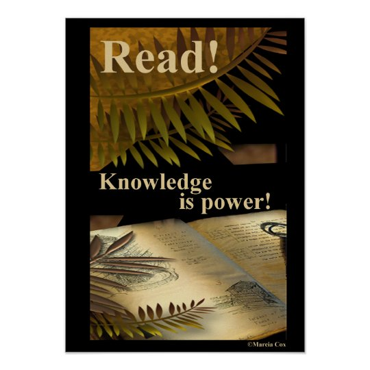 Read! Knowledge is Power! Poster
