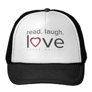 read. laugh. love. cap