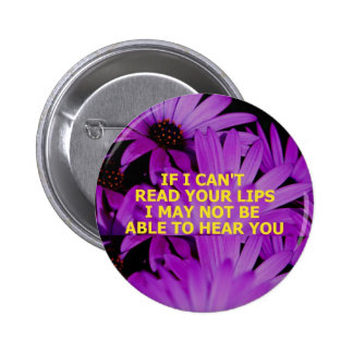 READ LIPS - Customized 6 Cm Round Badge