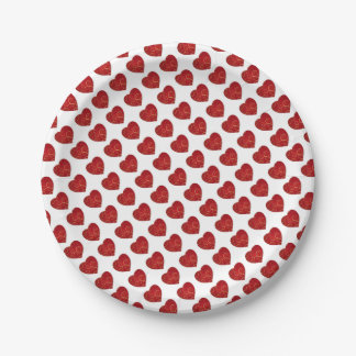 Read love heart for Valentine's Day 7 Inch Paper Plate